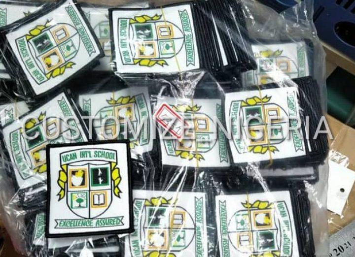 Customized Woven school badges in Nigeria